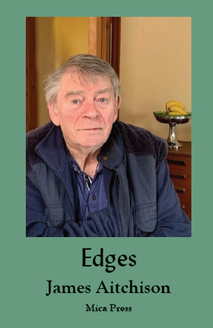 image of Edges book cover with photo of author aged 80